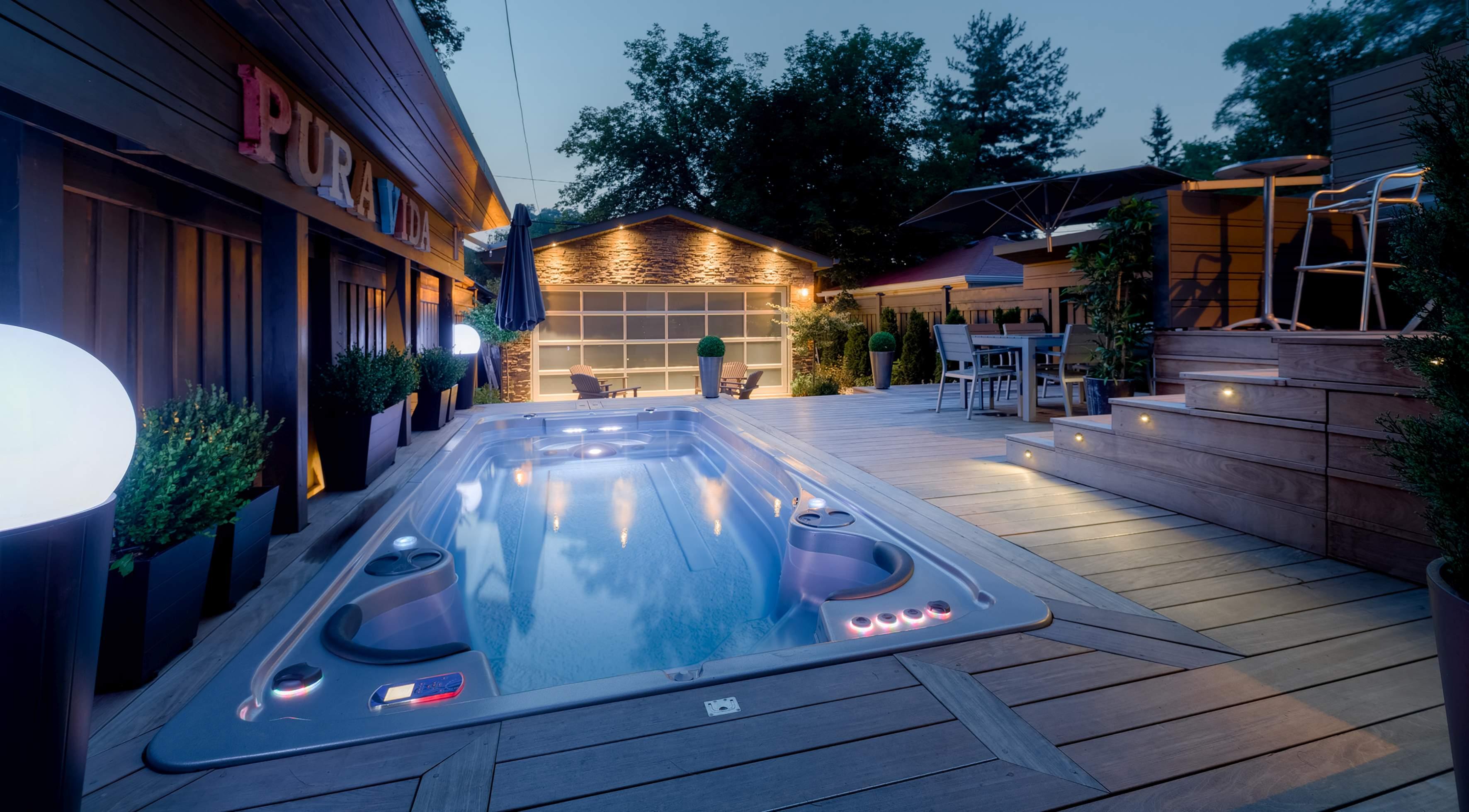 bazén s protiproudem Swim Spa